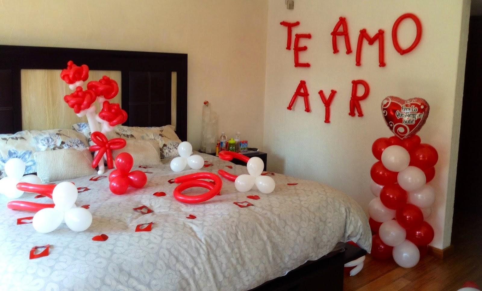 Como preparar noche romantica best como preparar noche for Cuartos decorados romanticos con globos