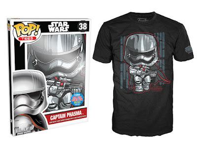 New York Comic Con 2015 Exclusive Pop! Tees T-Shirts by Funko - Star Wars Episode VII The Force Awakens - Captain Phasma