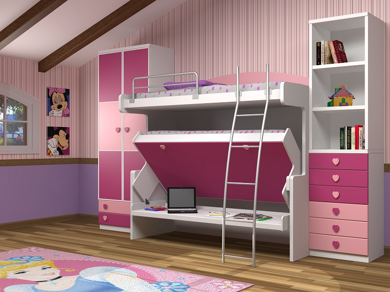 Fotografias de dormitorios con literas abatibles for Armarios para habitaciones pequenas