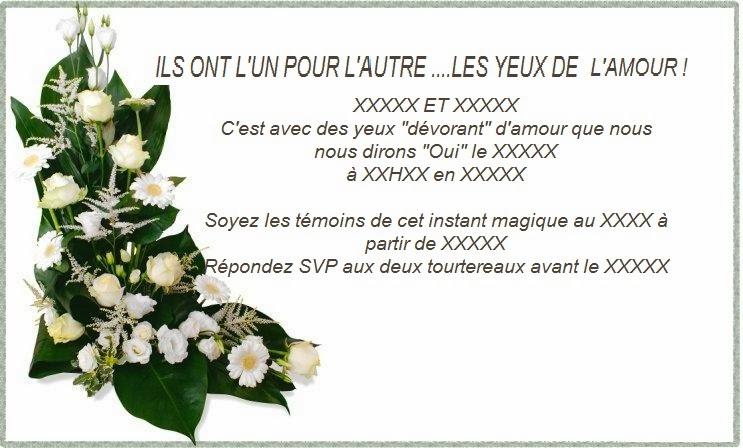 Carte et texte invitation mariage texte anniversaire sms - Texte felicitation mariage original ...
