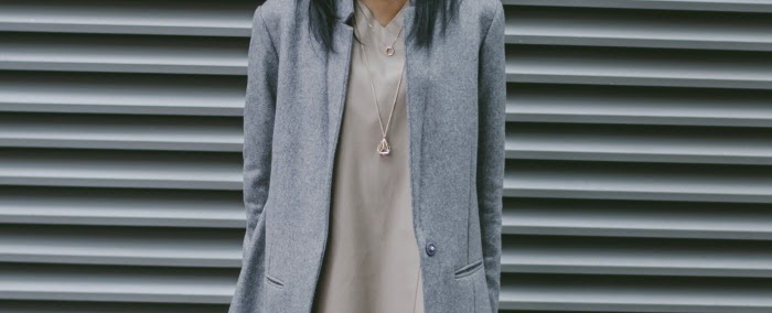 Nia A in Cos Wool Cashmere Long Blazer AW13 and Zara leather top