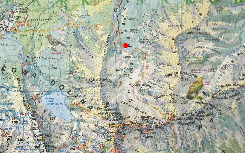 Czerwony Staw Pańszczycki na mapie