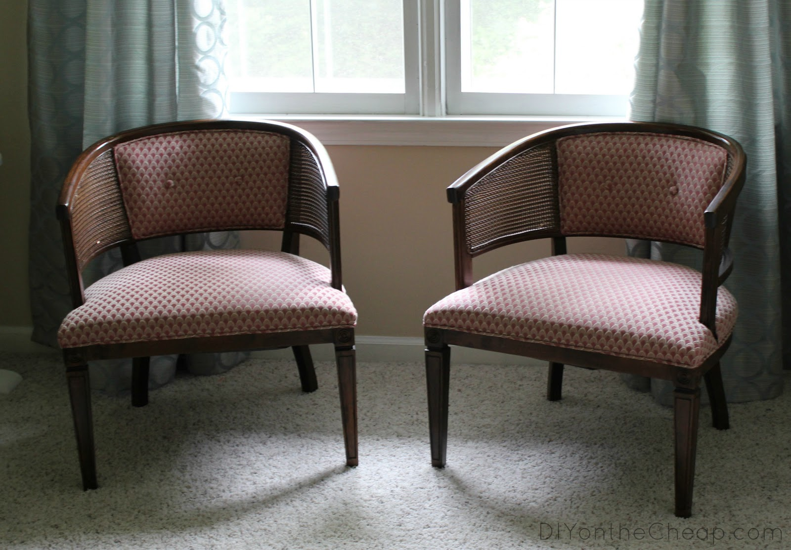 reupholstered chairs before after erin spain