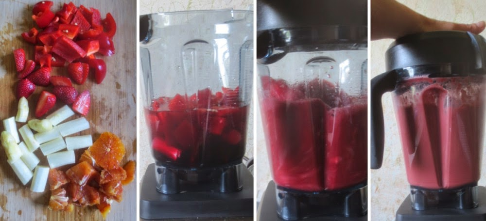 Zubereitung Roter Smoothie