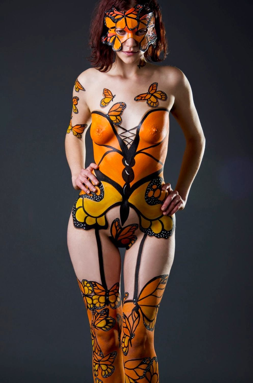 Body Painting Butterfly 2014