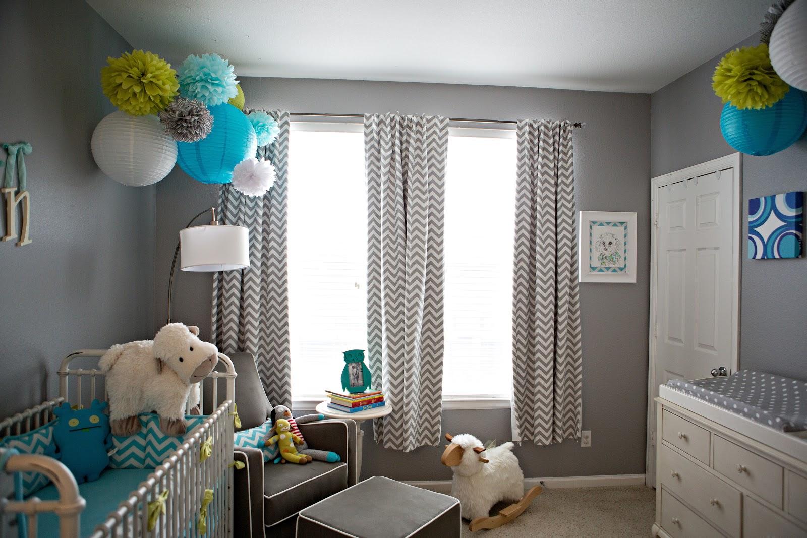 Being lovely mason 39 s nursery reveal for Chambre bleu marron