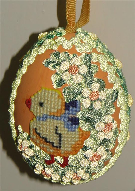 Applique Easter Egg in Pysanka Museum, West Ukraine