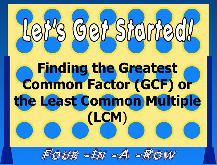 Least+Common+Multiple+Activities ... Greatest Common Factor and Least ...