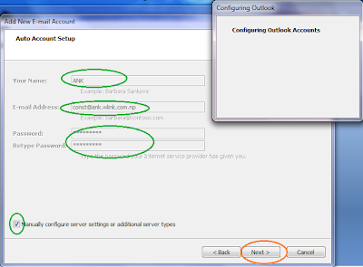 email outlook setting of worldlink