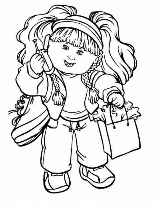 Cabbage Patch Kids Coloring Pages Team colors