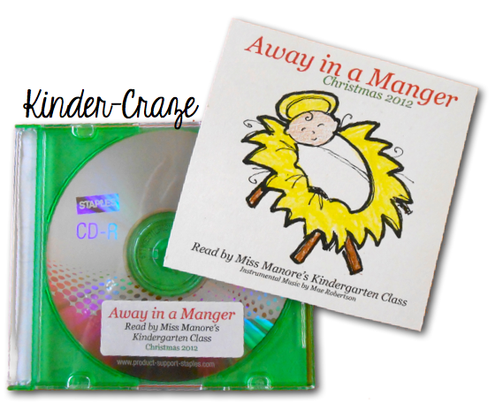 "this teacher recorded students reciting the lyrics to ""Away in a Manger"" as a gift for parents."