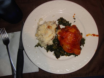 Glazed Chicken with Spinach and Mashed