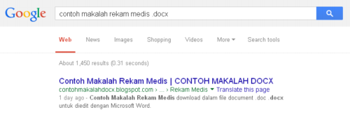 Search Contoh Makalah Rekam Medis .docx