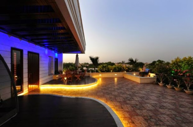 outdoor LED lighting ideas,terrace lighting ideas,decorative LED lights for terrace