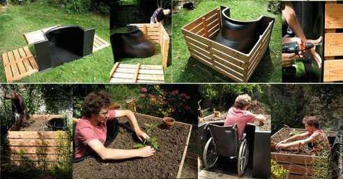 Huerta para personas en silla de ruedas