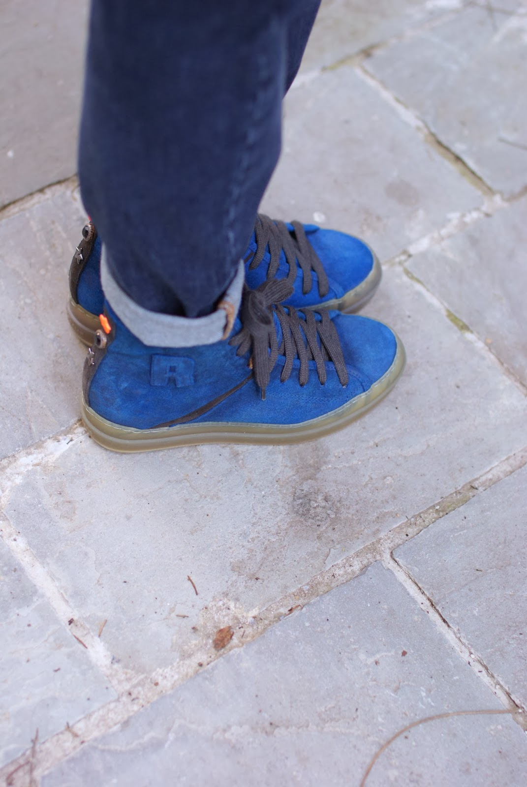 Ruco Line cobalt blue sneakers, Fashion and Cookies, fashion blogger