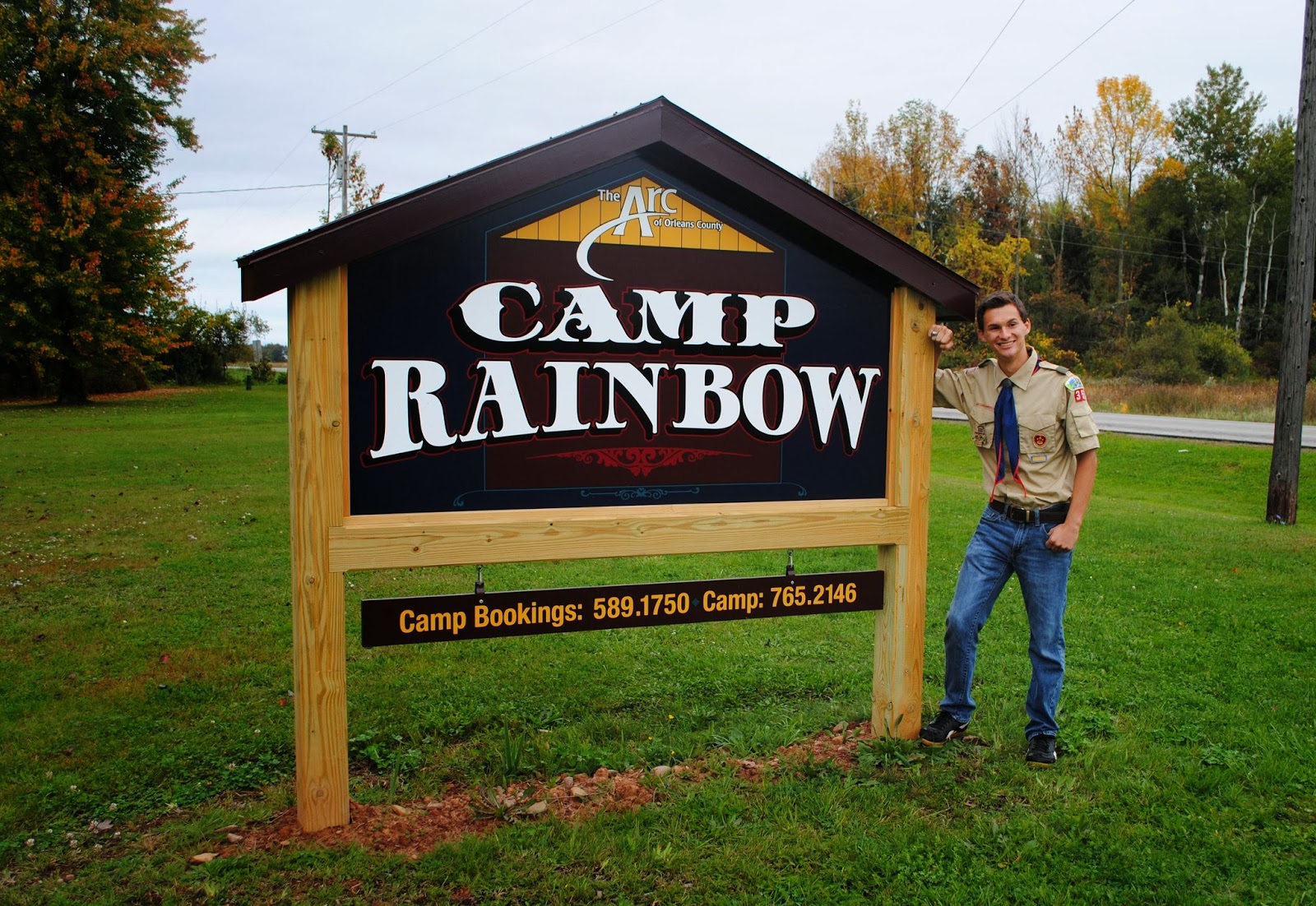 Camp Signs Camp rainbow sign.