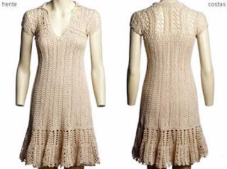 imagens de vestidos de tricô