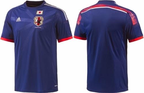 Detail Jersey Terbaru Jepang Home Piala Dunia 2014