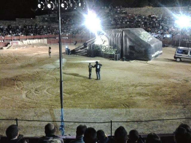 Imagenes del primer Freestyle de béjar en la plaza de toros de El castañar