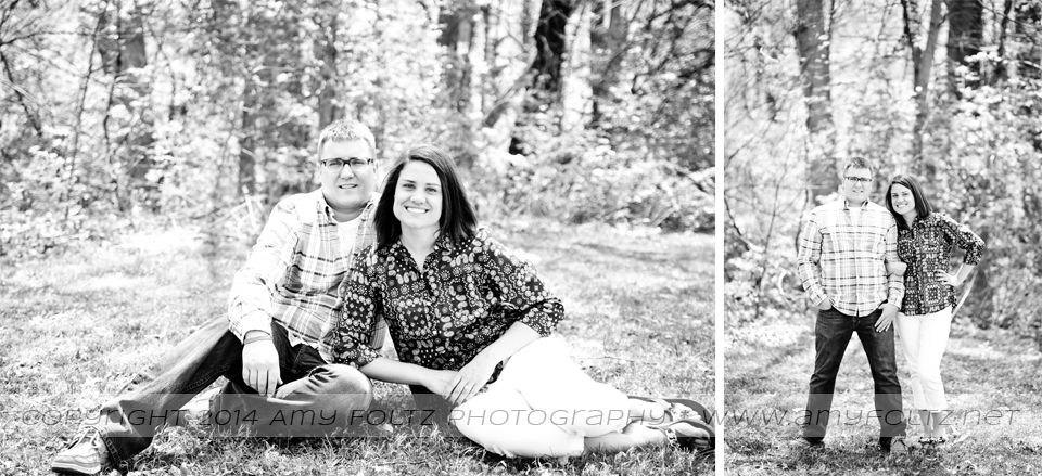 black and white engagement photos at Deming Park - Terre Haute Photographer