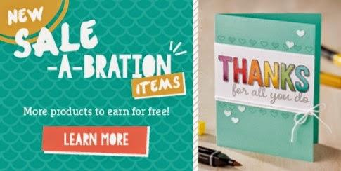 Sale-a-Bration from Stampin' Up! UK just got even better - see how here