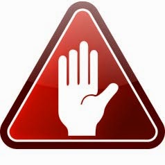 Picture of a hand held up against a red warning title to grab the attention of car buyers who are warned not to buy a car without looking what owners think about it fiirst
