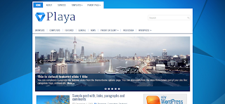 Playa Wordpress Template Is a Simple And User Friendly Wordpress Template