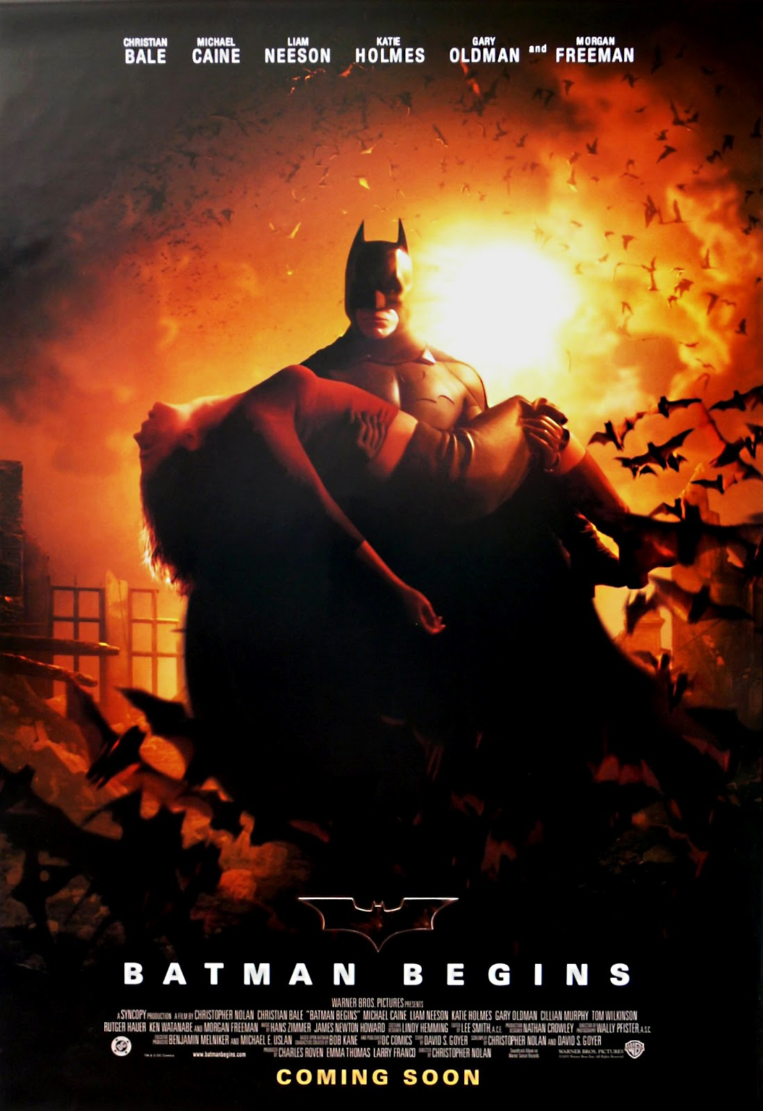 the geeky nerfherder movie poster art batman begins 2005