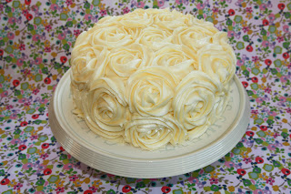 Lemon layer cake with lemon buttercream rose swirls