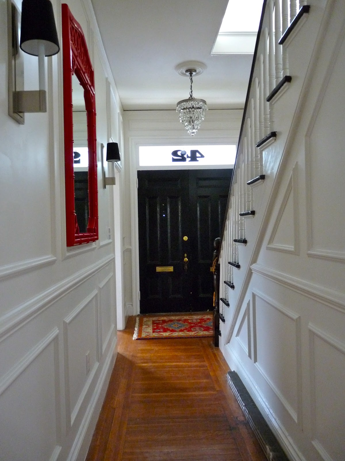 Foyer Hallway Schedule : Hazardous design a grand entrance foyer and hallway reveal