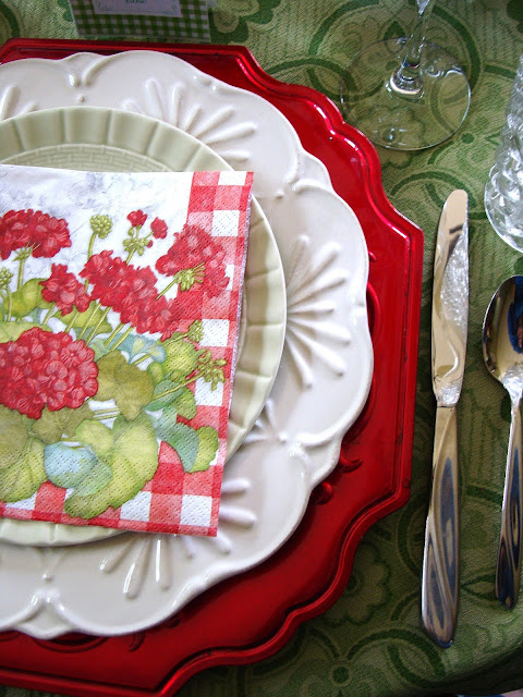 Layer dishes to create a beautiful tablescape