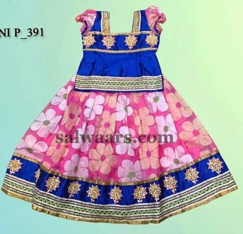 Floral Design Uppada Skirt