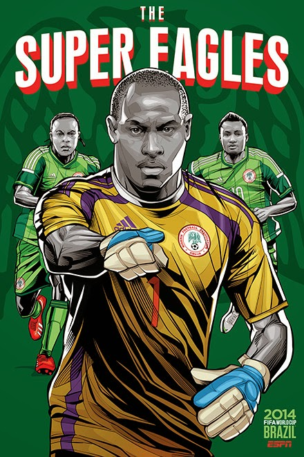 Poster keren world cup 2014 - Nigeria