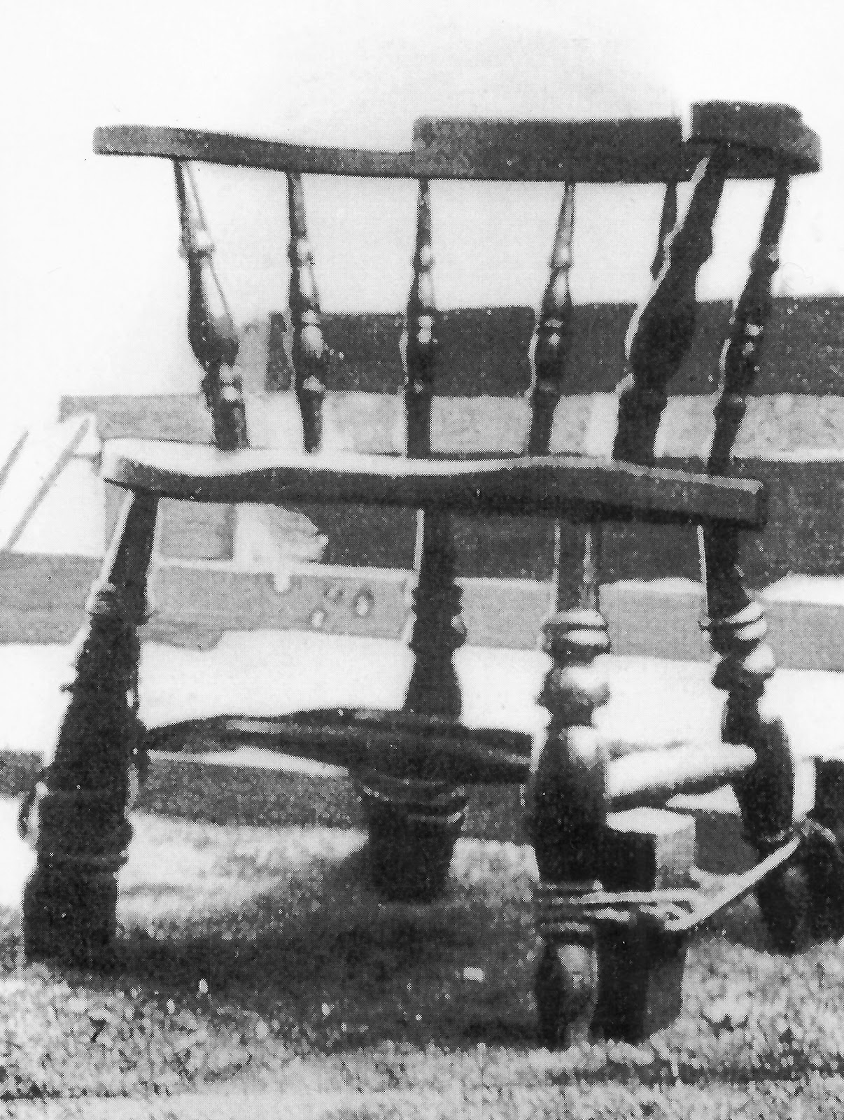 Chair in which German spies were executed during World War I.