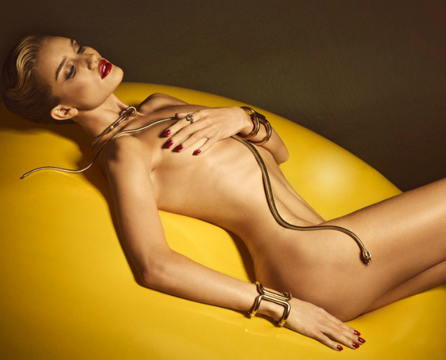 Rosie Huntington-Whiteley desnuda Lui Magazine