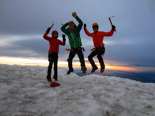 Rainier Summit Jump Shot Photo.