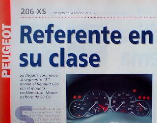 Prueba test Peugeot 206 xs 1.6