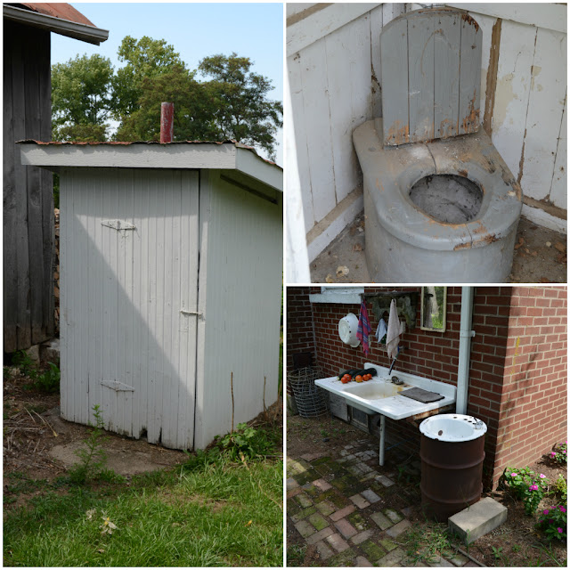 outhouse, working outhouse, real outhouse