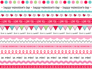 SRM Stickers Blog - Valentine Mini Cards by Laurel - #cards #mini #valentines #stickers #twine #borders