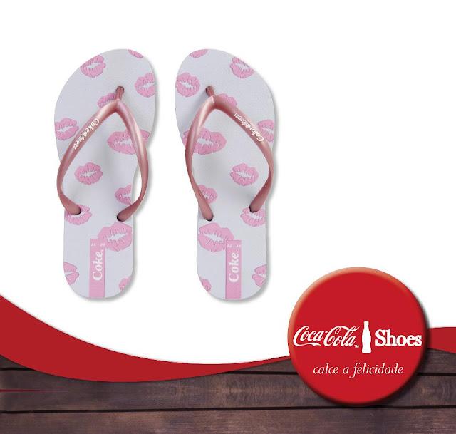 sandália feminina coca-cola kiss
