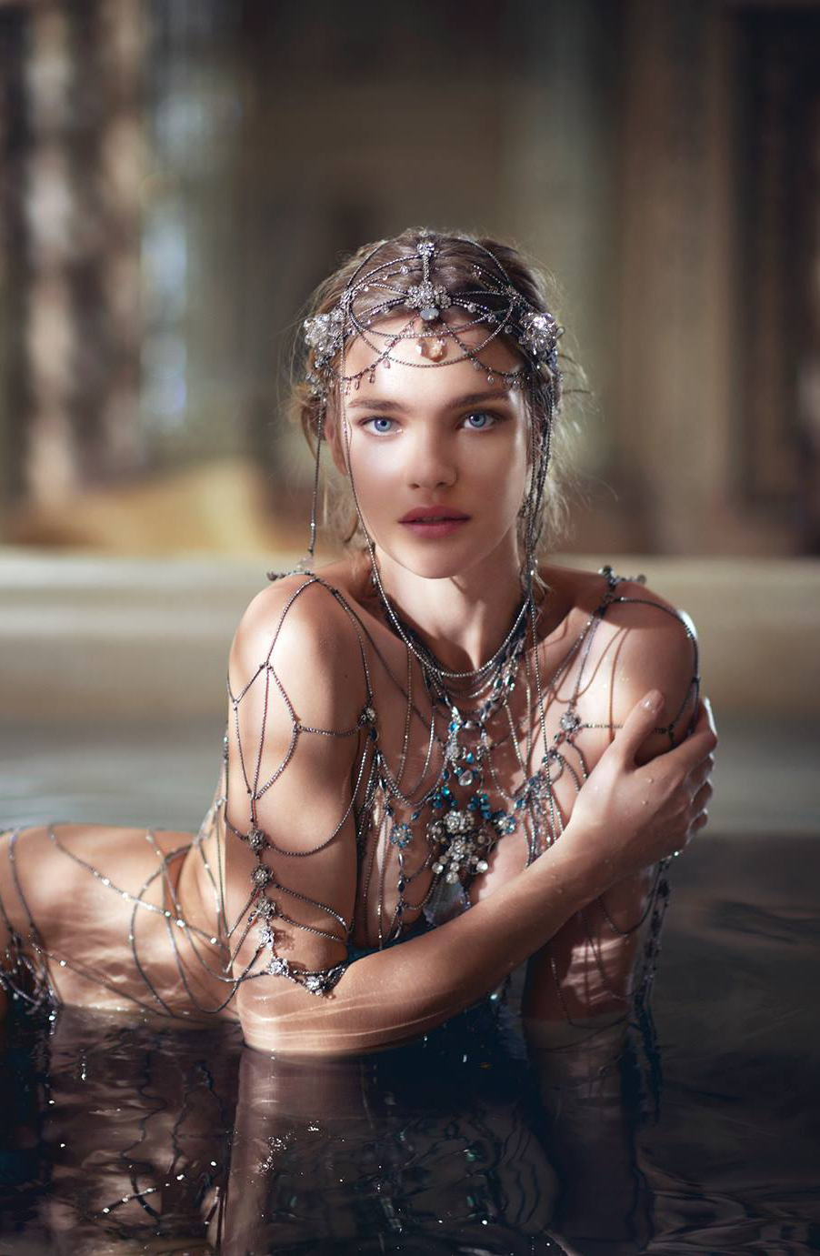 Natalia Vodianova in The Legend of Shalimar campaign film by Bruno Aveillan
