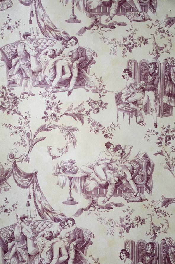 Twisted toile cavdesign cavdesign - Toile de jouy papier peint ...
