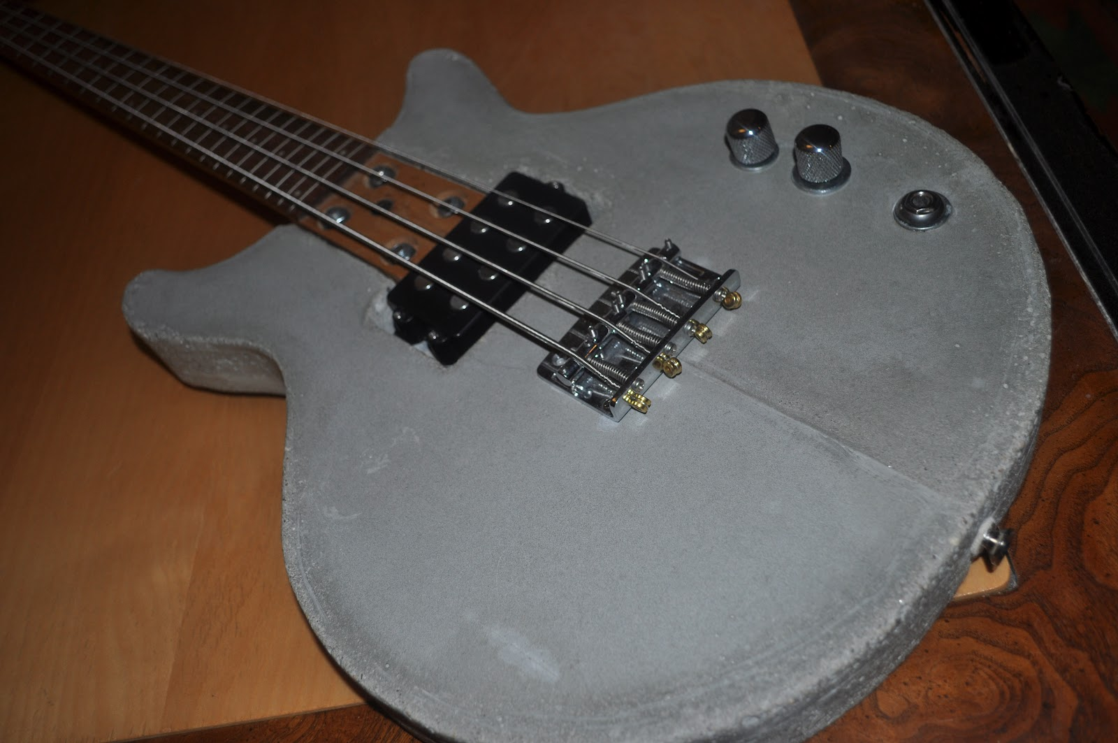 The Guitar Garage: Concrete Bass Prototype: What is heavier than ...