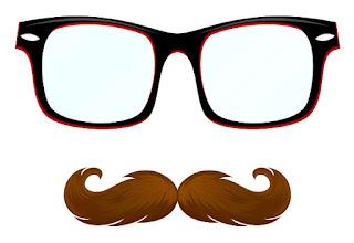 Gambar Kumis Kacamata Kartun Lucu Vektor Grafis Salon