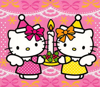 Gambar Hello Kitty 2015 Wallpaper HD Lucu Happy Birthday Tiup Lilin