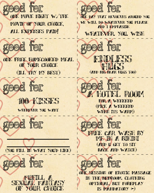 Valentine's day coupon book ideas for her