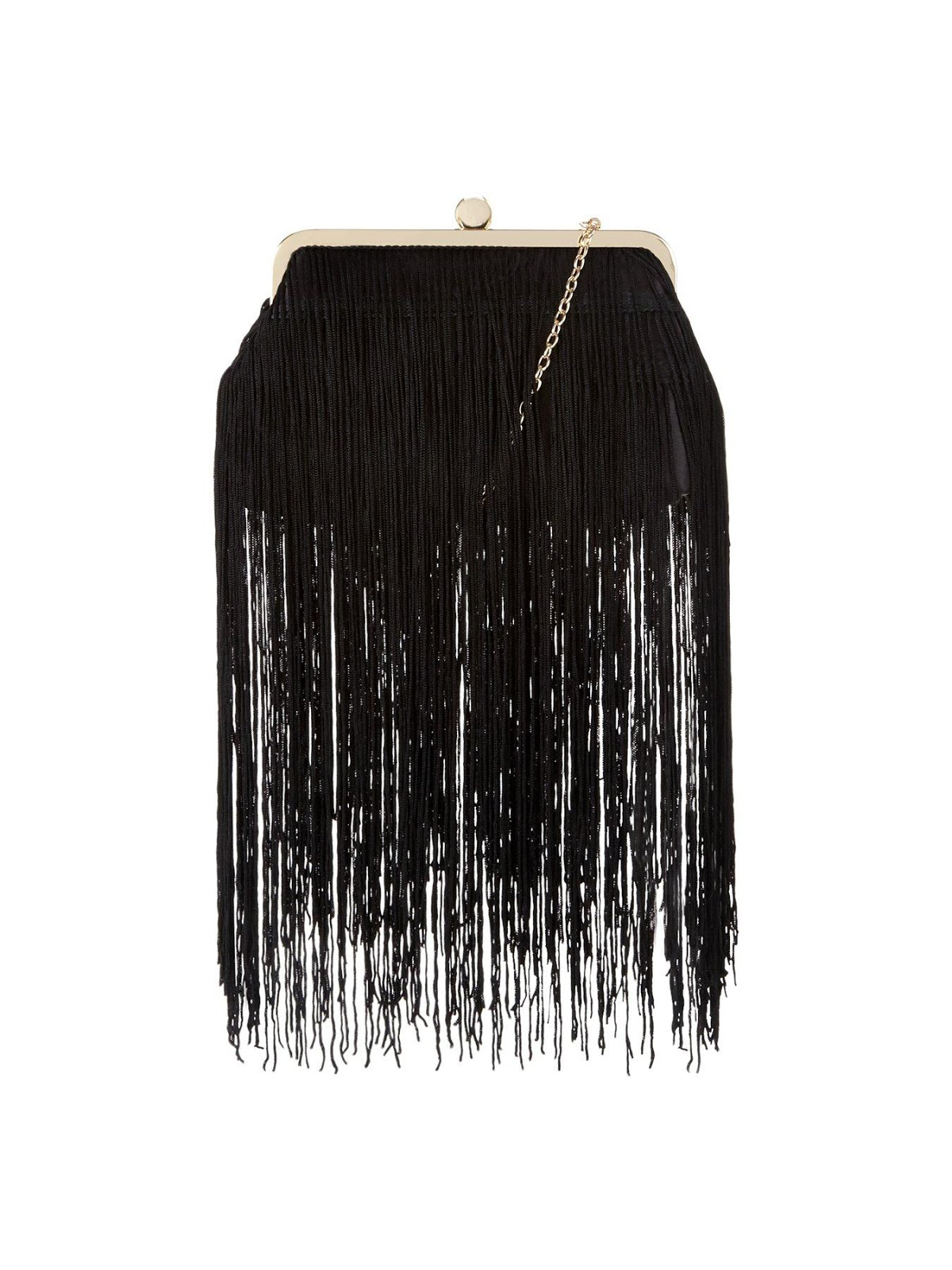 Triple Layer Fringed Clutch