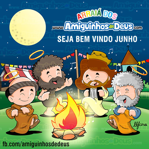 festa junina amiguinhos de deus desenho