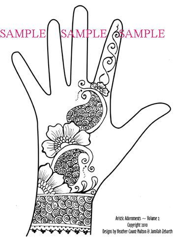 Henna tattoo patterns all about for Easy hand drawings